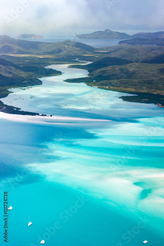 Poster Turquoise Whitsundays from above, Queensland, Australia