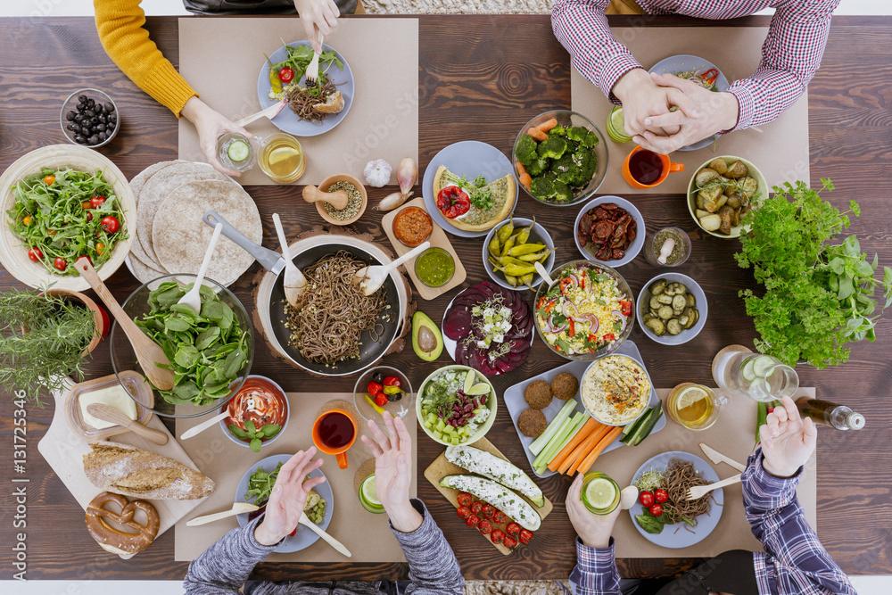 Fototapety, obrazy: Vegan and vegetarian food