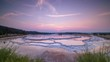 Great Fountain Geyser Sunset