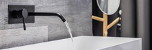 Washbasin With Wall Mounted Tap