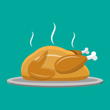 Fried Chicken Or Turkey Isolat...