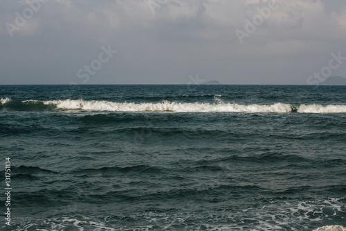 Fototapeten Natur the waves near the shore foam, wave crests