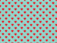 Blue And Red Hearts Background