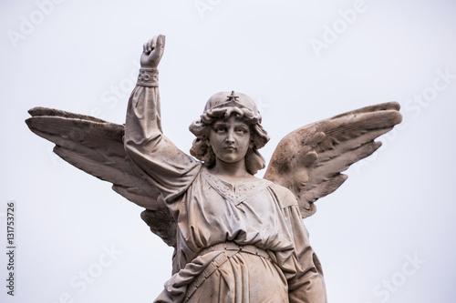 Fototapety, obrazy: Statue in cemetery of zaragoza in spain