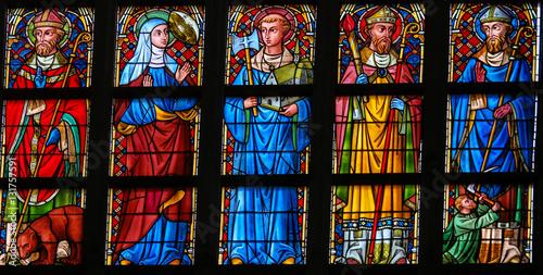 Fotografie, Obraz  Stained Glass - Catholic Saints
