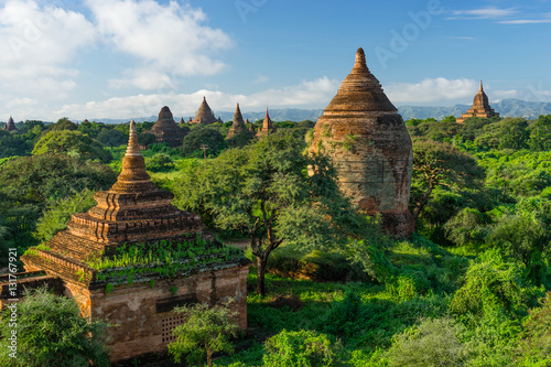 Old Bagan pagodas and temple, Mandalay, Myanmar Poster