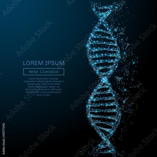 Fotografía  Polygonal DNA concept