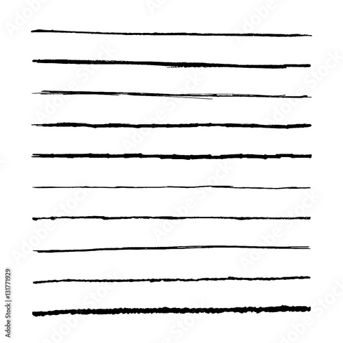 Drawing Straight Lines With Brush In Photo : Set marker lines vector templets hand drawing brushes