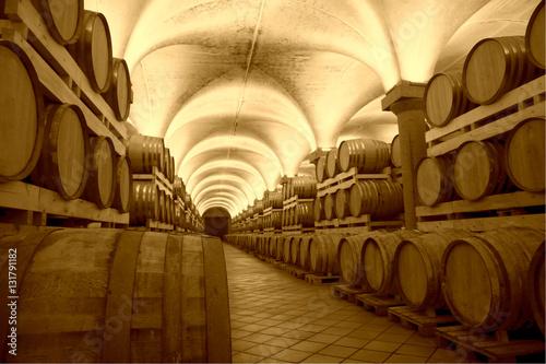 Cantina con vino Obraz na płótnie