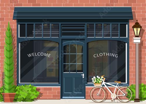 Fotografía  Graphic fashion shop facade