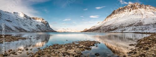 Fotografie, Obraz  Winter mountains in Norway