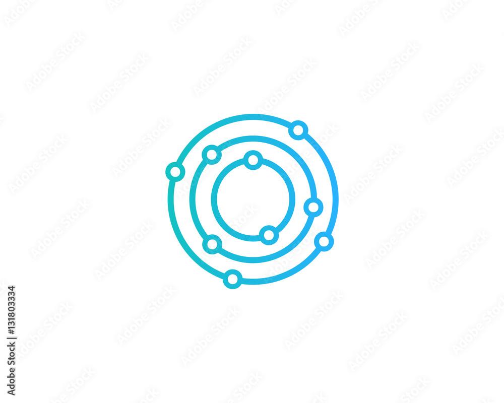 Fototapety, obrazy: Initial Letter O Dot Orbit Logo Design Element