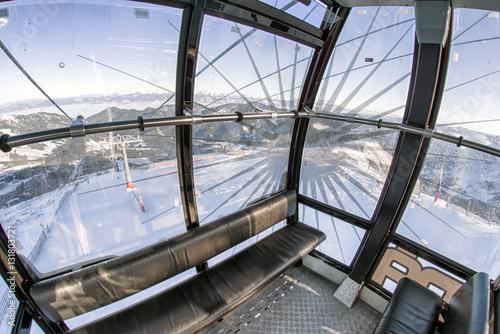 Inside of cableway in ski resort Jasna, Slovakia