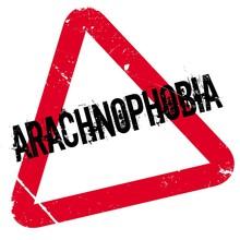 Arachnophobia Rubber Stamp