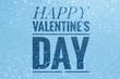 Happy Valentine's Day words on shiny glitter background