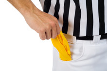 Referee: Pulling Penalty Flag From Pocket