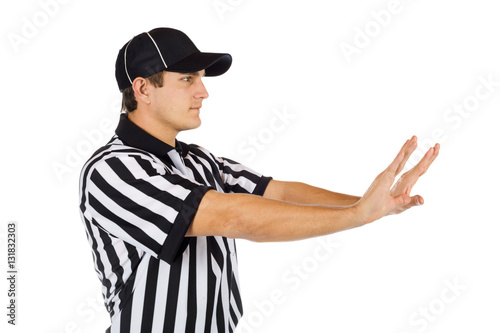 Fotografie, Obraz  Referee: Side View Of Pass Interference Call
