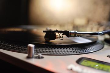 Fototapeta na wymiar vinyl record in close-up. club music