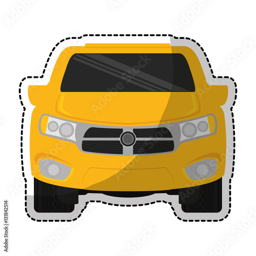 Fotobehang Snelle auto s car vehicle icon over white background. colorful design. vector illustration