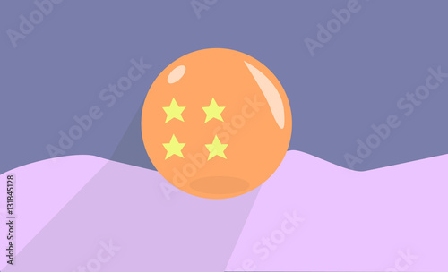 Photo  Dragon Ball Four Star Shiny Vector Illustration