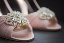 Closeup Of Wedding Shoes