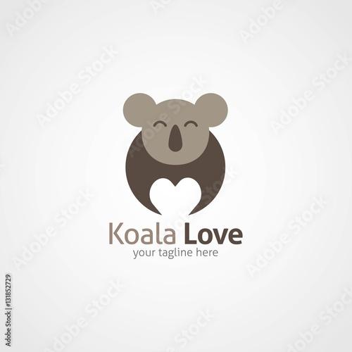 Koala Logo Design Template. Vector Illustration - Buy this stock ...