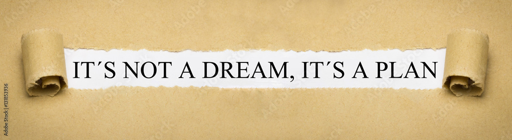 Fototapety, obrazy: It´s not a dream, it´s a plan