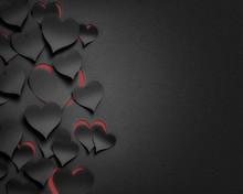Paper Hearts Valentine's Day  - 3D Romantic Card / Background ( Love , Valentine , Wedding )