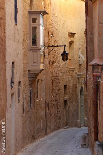 Obraz na płótnie Zabytkowa uliczka na Malcie