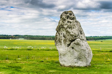 Heel Stone At Stonehenge On A ...