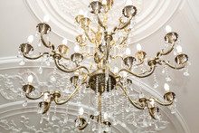 Chandelier In Classic Room Shi...