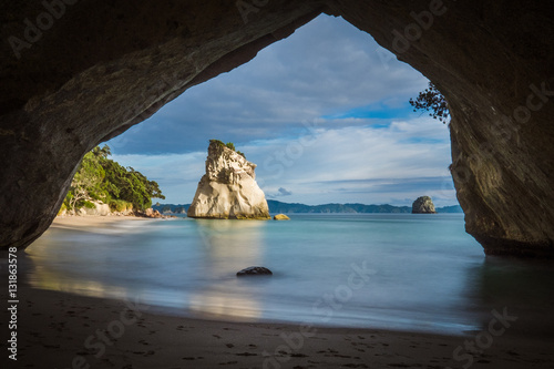Spoed Foto op Canvas Cathedral Cove Cathedral Cove, Coromandel Peninsula, New Zealand