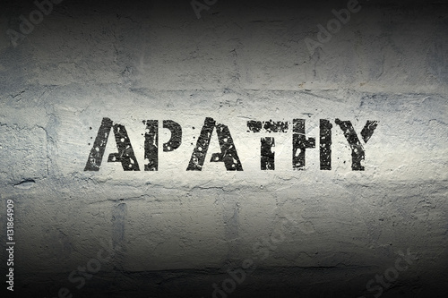 apathy word gr Wallpaper Mural