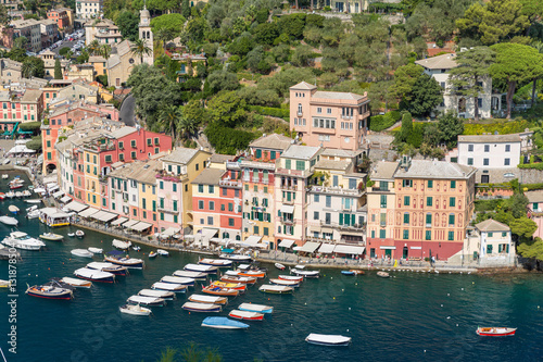 Fototapety, obrazy: Portofino in Italy taken from the top of the opposite hill
