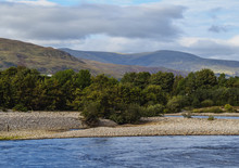 UK, Scotland, Fort William, Landscape Of The River Lochy.