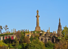 UK, Scotland, Lowlands, Glasgow, View Of The Necropolis, Victorian Cemetery.