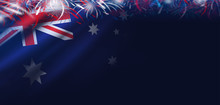 Australia Day Background Of Fl...
