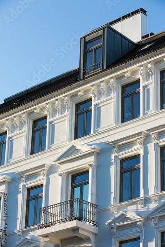 Weisser Altbau Mit Balkon Und Gaube Buy This Stock Photo And