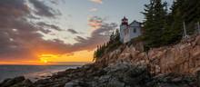 Bass Harbor Lighthouse Panorama