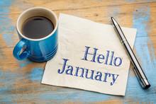 Hello January On Napkjn