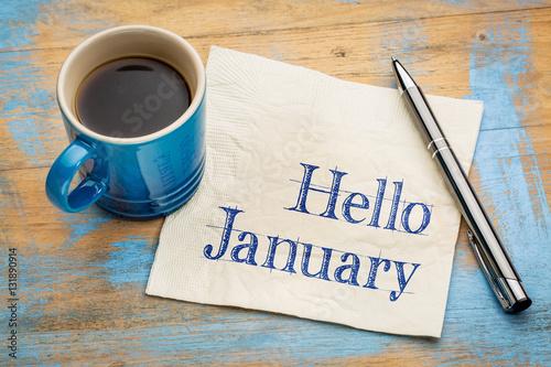 Fotografia, Obraz Hello January on napkjn