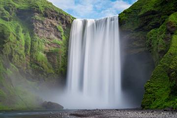 Fototapeta samoprzylepna Skogafoss waterfall long exposure