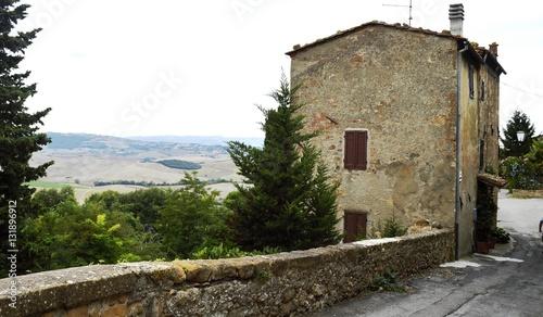Fotografie, Obraz  Pienza, Muro da Cidade/Toscana - Itália