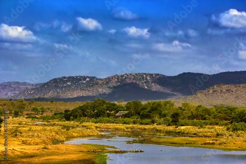Foto op Canvas Zuid Afrika Republic of South Africa - Mpumalanga province. The Crocodile River (Krokodilrivier in Afrikaans) near Malelane Gate, Kruger National Park