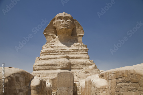 In de dag Egypte The Great Sphinx in Giza, Egypt