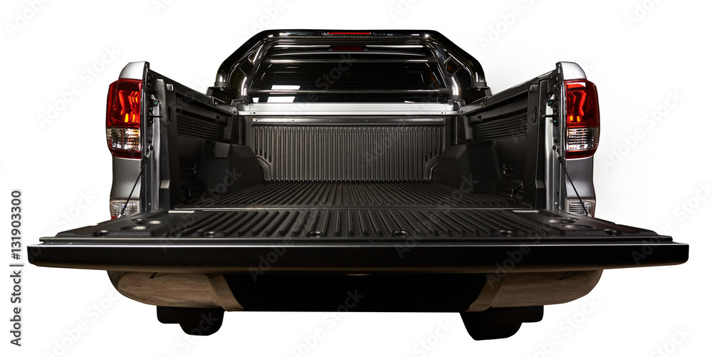 Fototapety, obrazy: Open pickup trunk