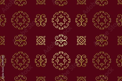 Abstract Background Burgundy Color Elements Vintage Embossed