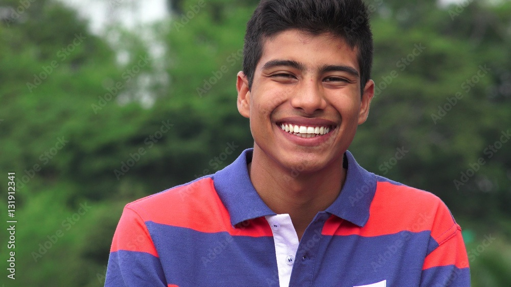 Fototapeta Hispanic Teen Boy Smiling