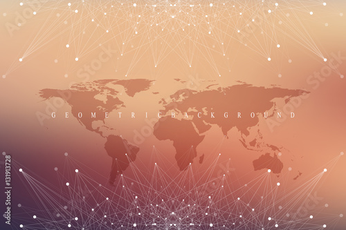 Geometric graphic background communication with world map big data geometric graphic background communication with world map big data complex with compounds perspective backdrop gumiabroncs Gallery