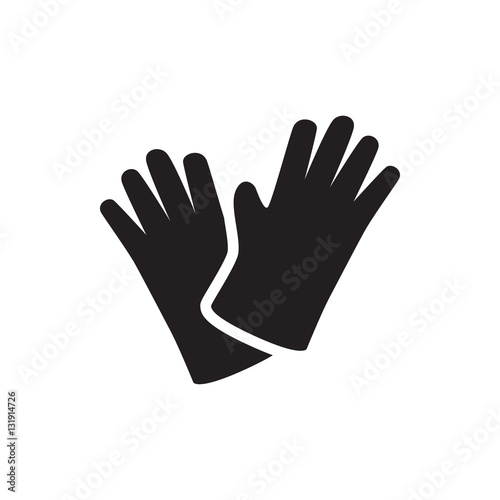 Photo gloves icon illustration